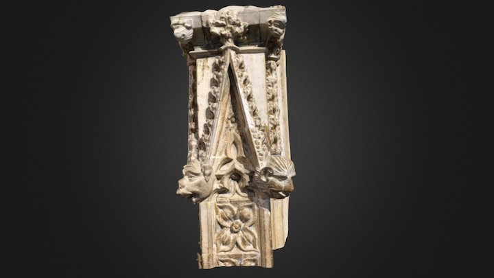 Medieval choir screen detail 3D Model