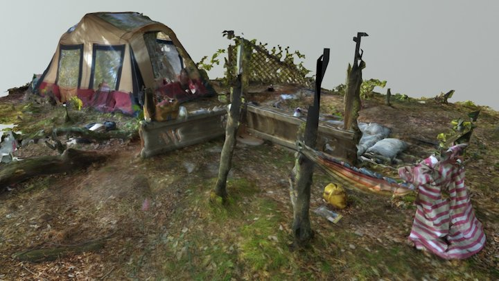 The Camp Site VR 3D Model