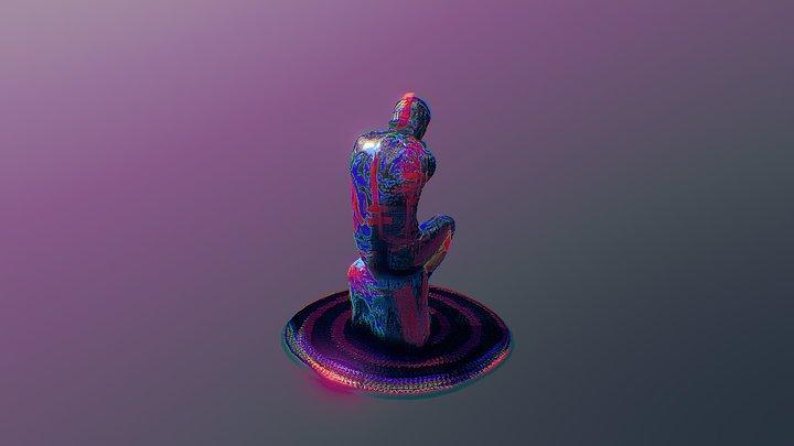 Trippy Thinker 3D Model
