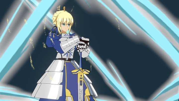 Fate/Staynight-Saber 3D Model