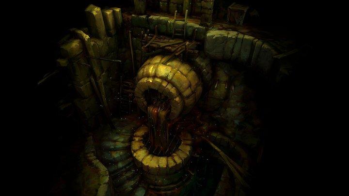 Dungeon dark Drain 3D Model