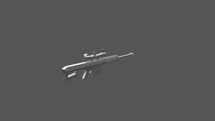 Barrett based off the 82a1 model 3D Model