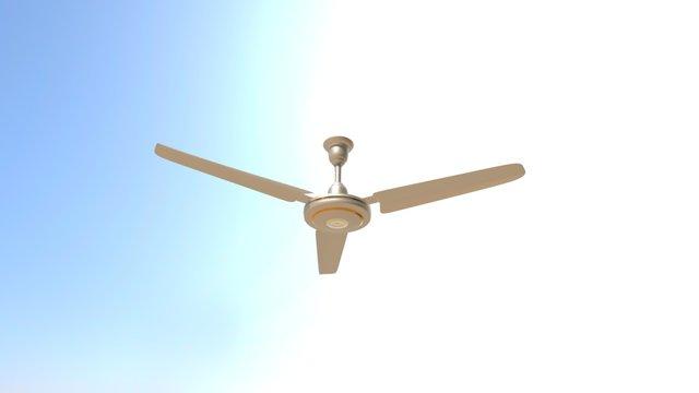 A Ceiling Fan 3D Model