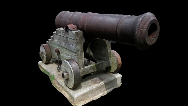 Old Brickell Cannon 3D Model