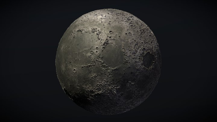Moon 3D Globe 3D Model