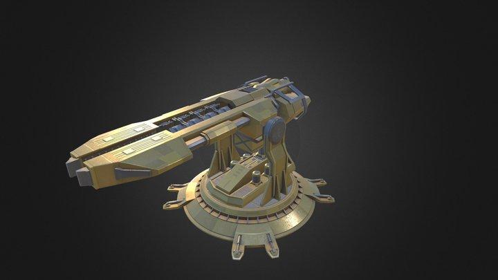 Rail Gun  3D Model