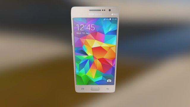 Samsung Galaxy Grand Prime VE Duos, Gold 3D Model