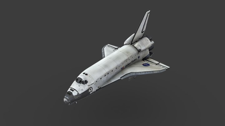 Orbiter Space Shuttle OV-103 Discovery 3D Model