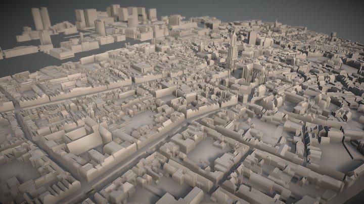Utrecht binnenstad 3D Model