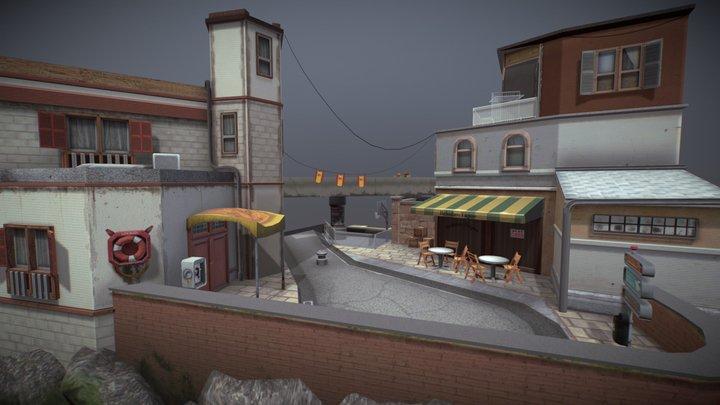 Tarifa City Scene | Crime Edition 3D Model