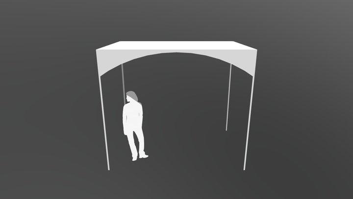 GAZEBO CUPOLA 3X2m (36003625) Leroy marlin 3D Model
