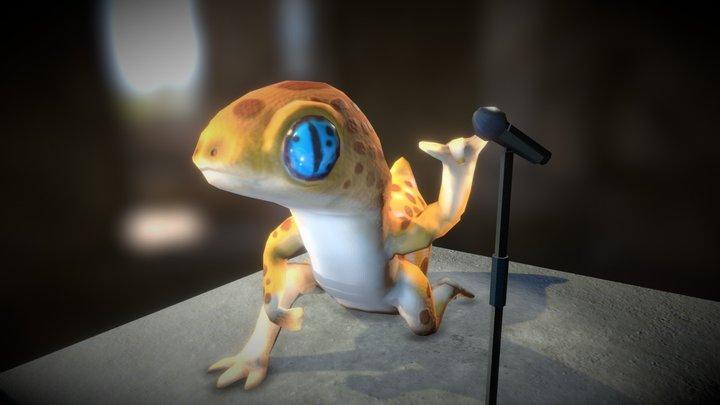 Leopard ROCKER Gecko 3D Model