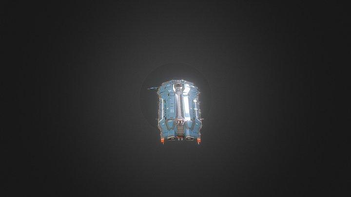 Hiigaran Battlecruiser 3D Model