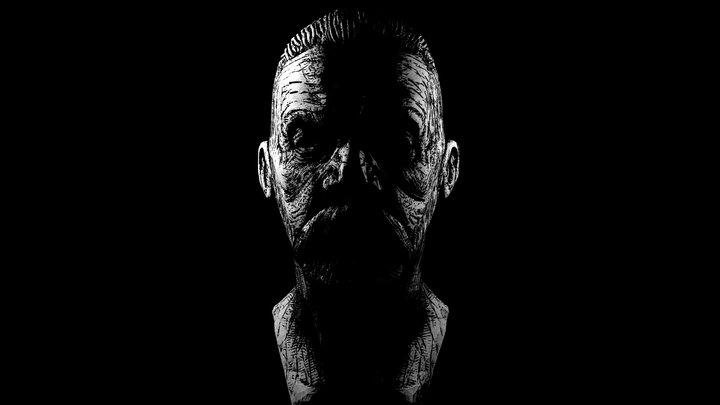 Sketch Beard Old Man Inktober 2019 3D Model