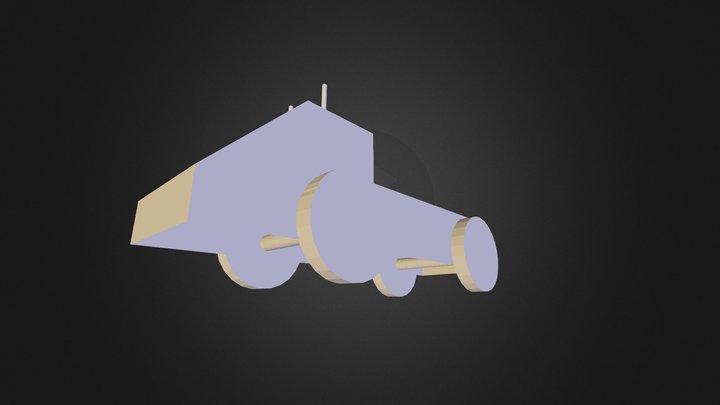 wooden pickub 3D Model