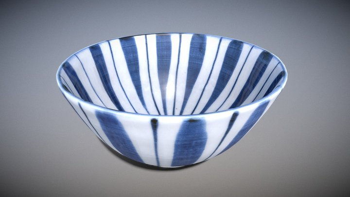 木賊文様碗 (Rough Horsetail Pattern Bowl) 3D Model