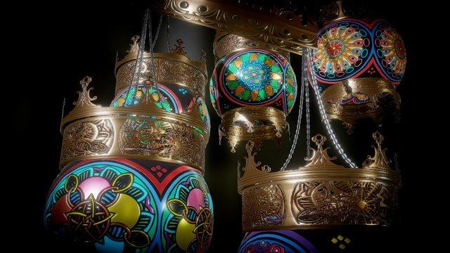 Turkish Lamps 3D Model