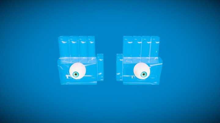 Eyerok  - Super Mario 64 -  Ice version 3D Model