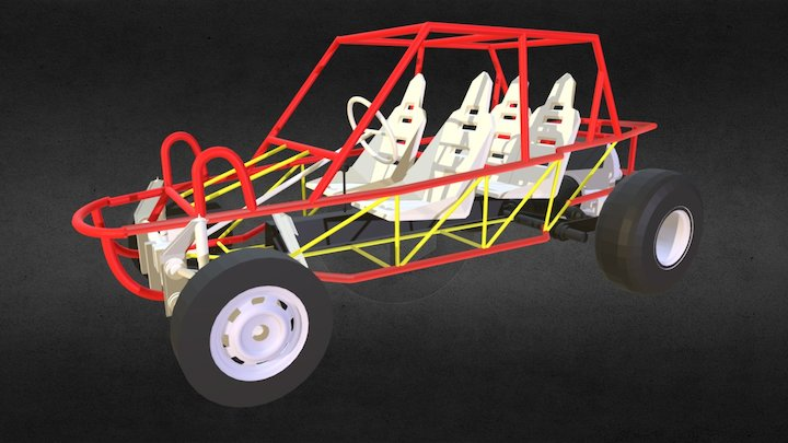 Buggy 4 Seats v5 3D Model