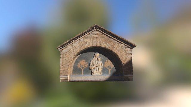 Bas-relief in Rome Trastevere 3D Model