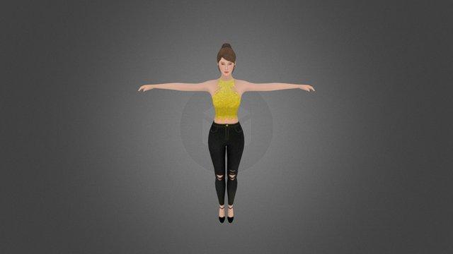Female_JeanTexture 3D Model