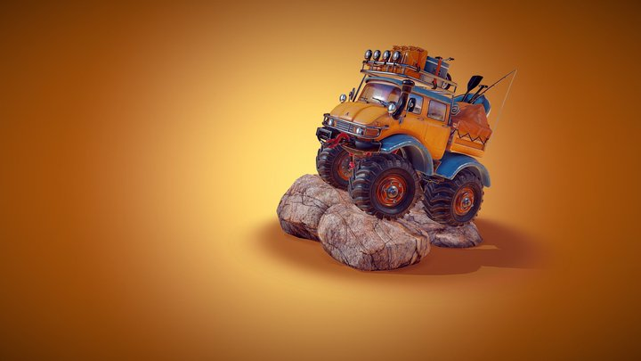 Mighty truck - Happy Camper 3D Model