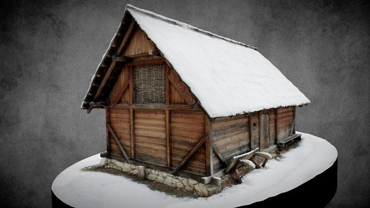 Schwarzenbach - Fürstenhaus im Winter 3D Model
