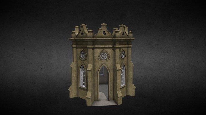 Gothic temple 3D Model
