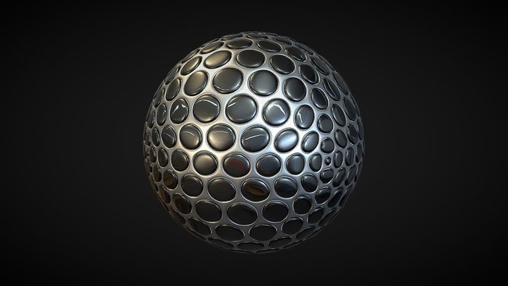 Abstract Spherical Object 3D Model