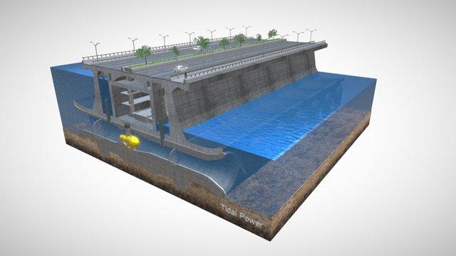 Tidal Power 3D Model