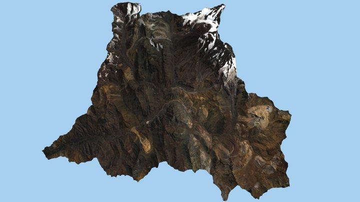 Valle río Volcán 3D Model