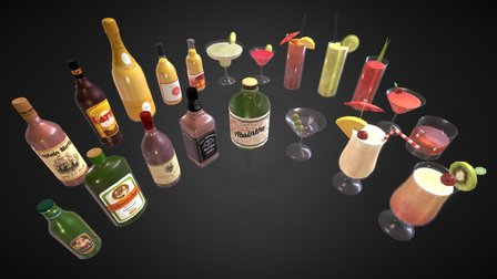Booze Heaven Pack 3D Model