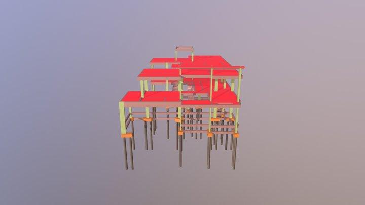 PROJETO ESTRUTURAL - RESIDÊNCIA RR 3D Model