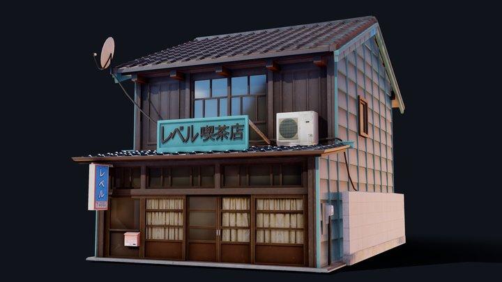 Coffee Shop of Shingawa 3D Model