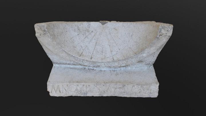 Roman sundial (Interamna Lirenas, Italy) 3D Model