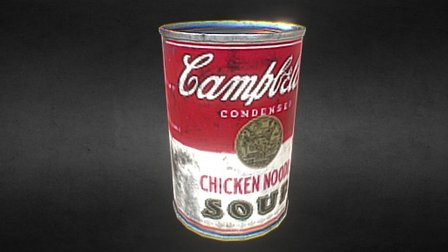 Campbell's Can 3D Model