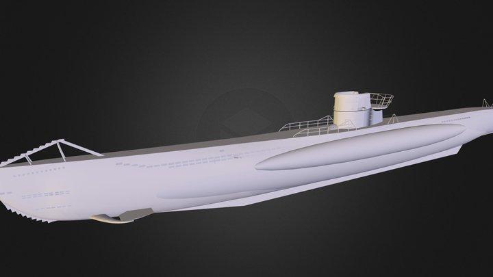 Type V I I Uboat 3D Model