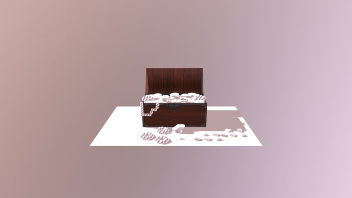 pirate chest 3D Model