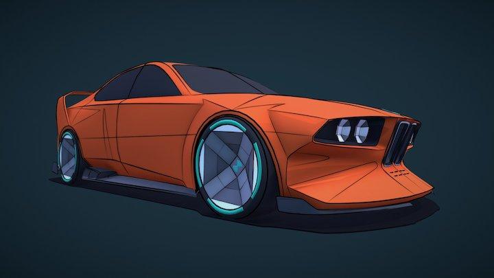 BMW Racecar Surfaces 3D Model