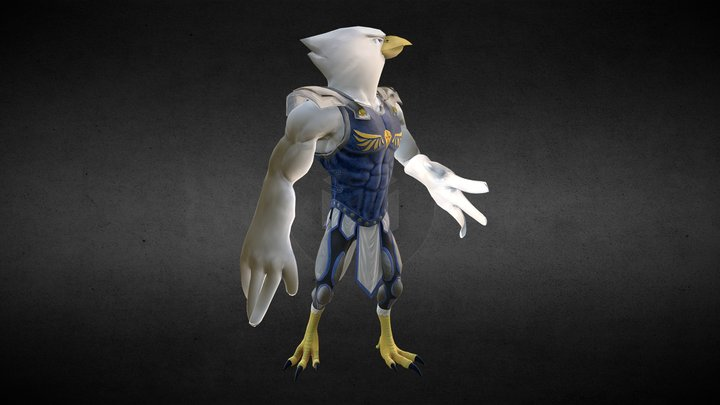 Qunitus the Falcon 3D Model