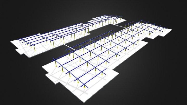 Cobertura de edifício 3D Model