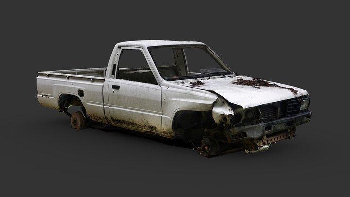 Trashed Pickup (Raw Scan) 3D Model