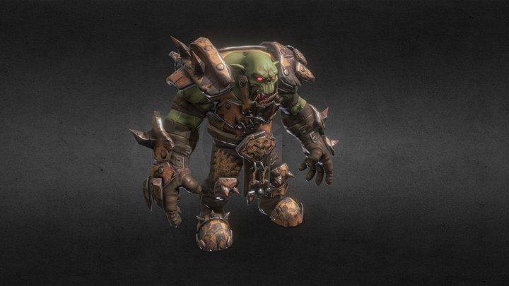 Warhammer 40000 Orc Guy 3D Model