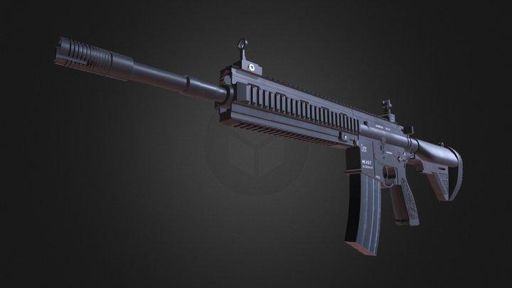 HK 416 Rifle 3D Model