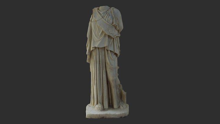 Statue de la déesse Athéna/ Minerva Sans Tête 3D Model