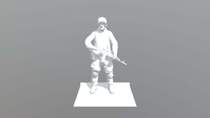 Russian Army Loadout 3D Model