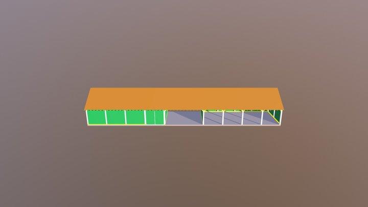 Oak Frame Garage - Glenfort Timber Engineering 3D Model
