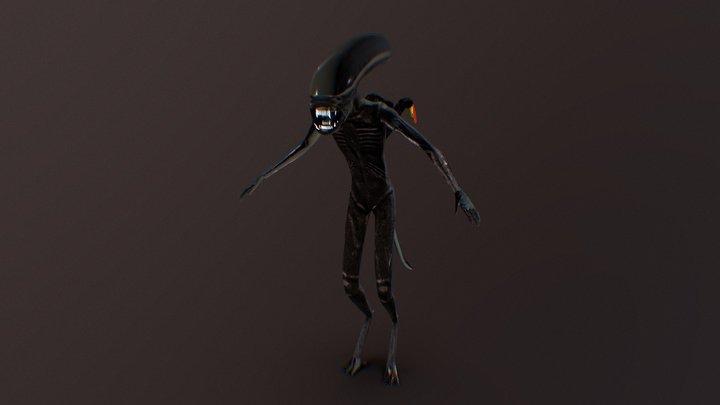 Alien Xenomorph - Low Poly 3D Model