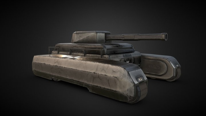 Stylized Tank 3D Model
