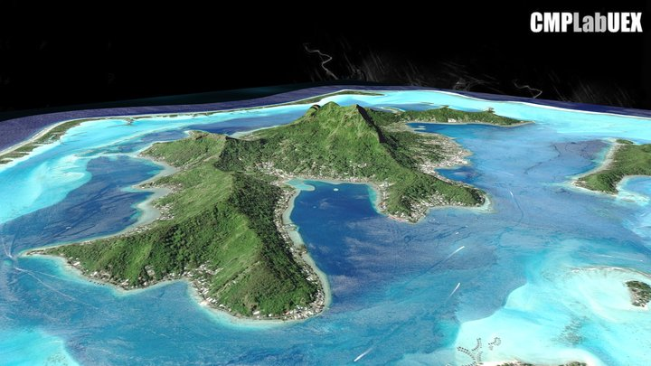 Bora Bora, Polinesia Francesa 3D Model